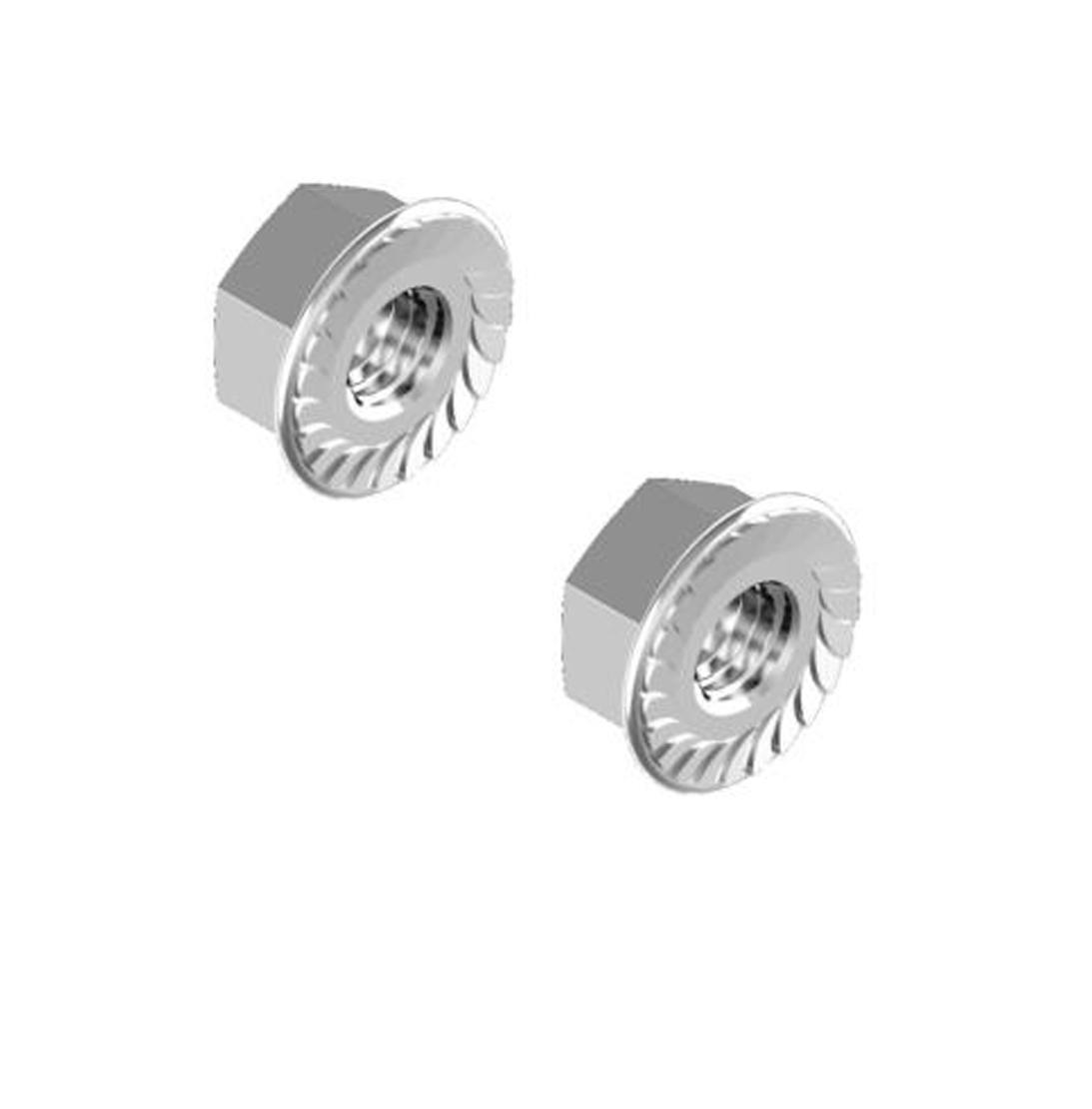 Flange Serrated Nuts Stainless Steel