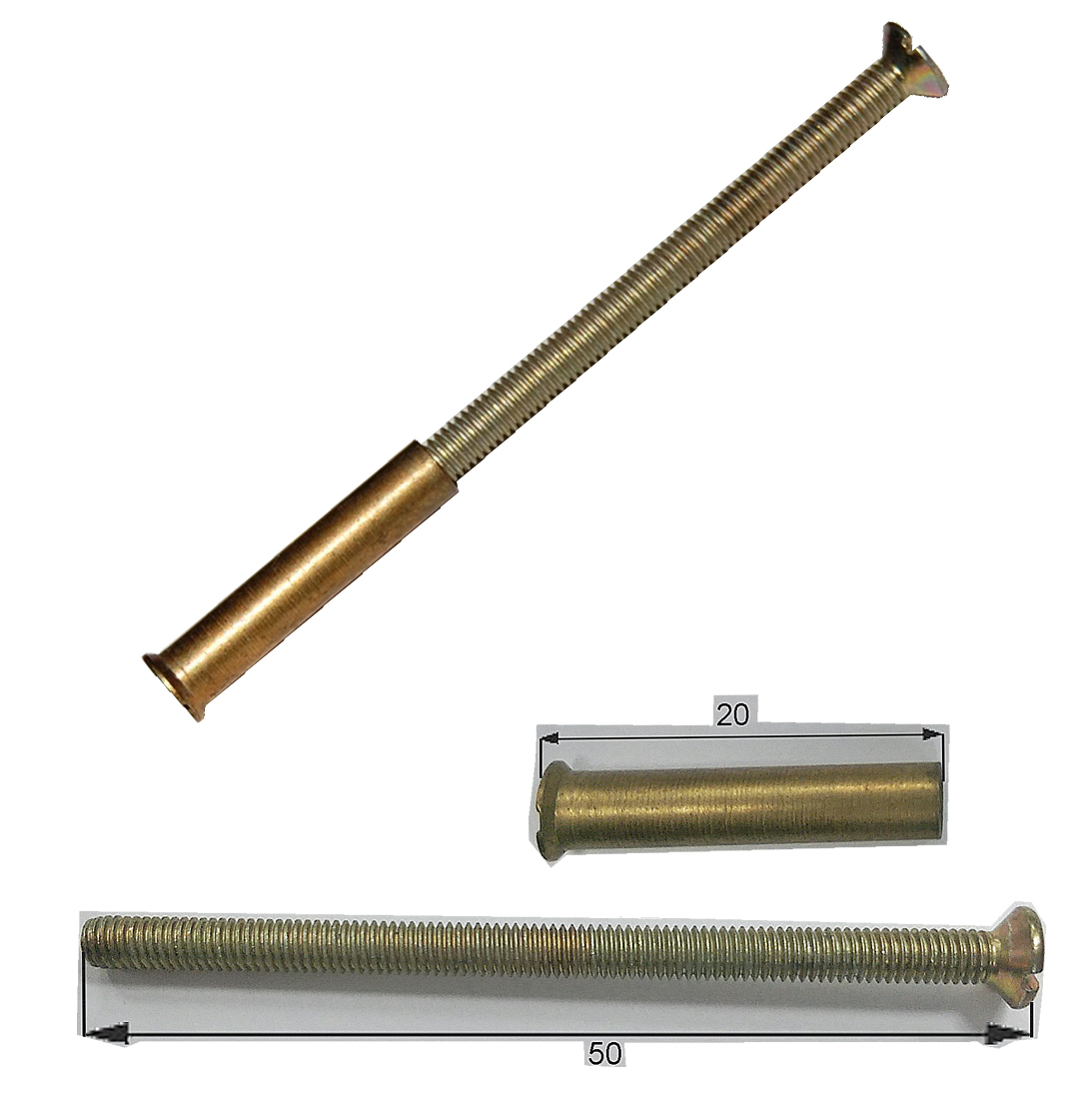 M brass connecting bolts screw with sleeve fasteners store